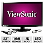 "Alternate view 1 for Viewsonic V3D231 23"" Class 3D LED Backlit Monitor"