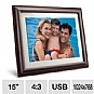 Viewsonic VFM1536-11 15&quot; LCD Digital Photo Frame - 1024 x 768, 600:1, 4:3, 256MB, USB, SD Card Reader, Anti-Glare