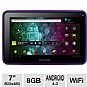 "Visual Land Prestige 7 ME-107-8GB-PRP Internet Tablet - Android 4.0 Ice Cream Sandwich, ARM Cortex A8 1.2GHz, 7"" Multi-Touch, 512MB DDR3, 8GB Storage, Webcam, Purple (Refurbished)"