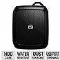 WD Nomad Rugged Case for WD Passport Hard Drives - Impact, Water, and Dust Resistant, Carabiner-ready ring, USB Port opening - WDBGRD0000NBK-NASN