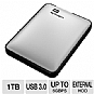 Alternate view 1 for WD My Passport 1TB Silver Hard Drive
