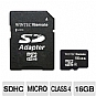 Alternate view 1 for WintecFilemate 16GB microSDHC Card w/ Adapter