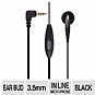 TESSCO 387120 Sprint Premium Mono Earbud Headset - 3.5mm, Microphone, Black 