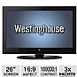 "Alternate view 1 for Westinghouse CW26S3CW 26"" 720p LCD HDTV REFURB"