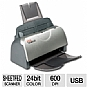 Xerox DocuMate 150 Document Scanner - 18 ppm,600 dpi, 24-bit Color, 8-Bit Mono, USB (PC Only)