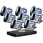 Xblue Networks X16 Digital Speakerphone System - 6 Lines, 2 Hours Of Message Storage, Titanium Metallic (8-Pack Bundle) (Refurbished)