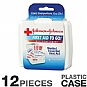 Johnson and Johnson 8295 Mini First Aid To Go Kit - 12 Pieces, Plastic Case, Adhesive Bandages, Antiseptic Wipes, Butterfly Closures, Gauze Pads