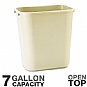 Alternate view 1 for Rubbermaid 29560 Rectangular Wastebasket