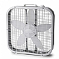 "Lasko 3723 Box Fan - 20"", 3-Speed, Wind Ring, Energy Efficient, Wide Body Design, White"