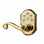 Alternate view 1 for Zwave Kwikset Brass Motorized Door Lever
