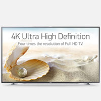 4K Ultra High Definition. Four Times The Resolution of Full HD TV