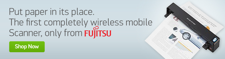 The first completely wireless mobile scanner, only from Fujitsu