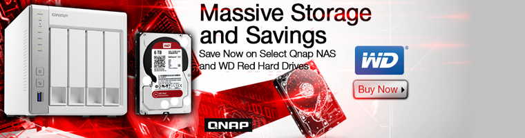 Save Now on Select Qnap NAS and WD Red Hard Drives