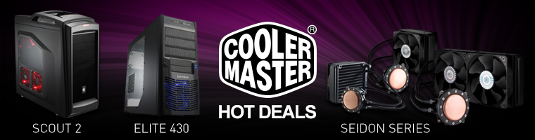Cooler Master HOT DEALS! - SCOUT 2, ELITE 430, SEIDON SERIES