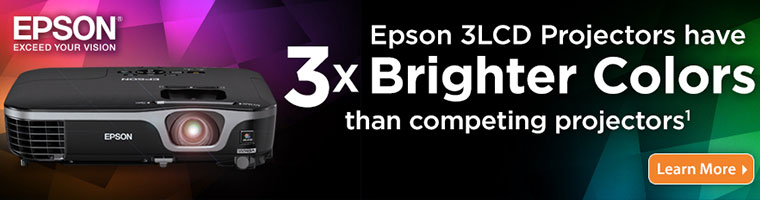 Epson 3LCD Projectors have 3x Brighter Colors than competing projectors