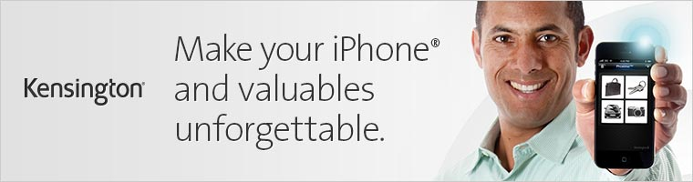Kensington: Make your iPhone and valuables unforgettable.