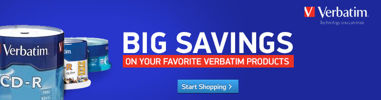 Big Savings on Verbatim Products
