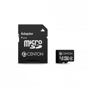 Centon 2GB MicroSD Card – With Adapter (S1-MSDHC4-2G)