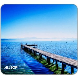 Allsop NatureSmart Mouse Pad – Soft Cloth Surface Non-Skid Rubber Back