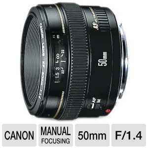 Canon EF 50mm f/1.4 USM Standard & Medium Telephoto Lens (2515A003)