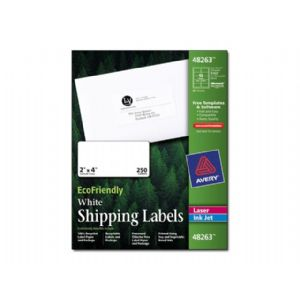 Avery EcoFriendly Shipping Labels – Labels – paper – self-adhesive – w