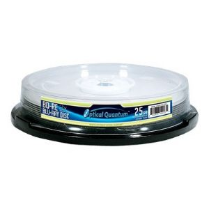 Optical Quantum Logo Top - BD-RE x 10 - 25 GB