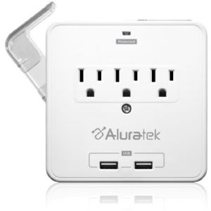 Aluratek Mini Surge Dual USB Charging Station with Holding Trays (AUCS