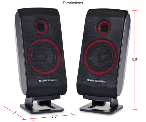 Buy The Altec Lansing Vs2421 3 Piece Computer Speakers At