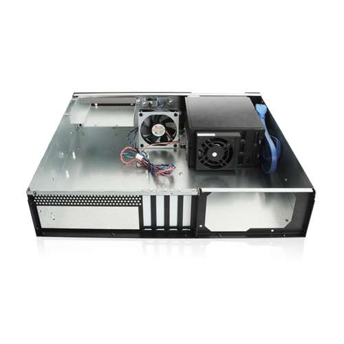 iStarUSA D-230HB-T 2U Compact 3X 3.5 Bay Hotswap microATX Chassi Power Supply Not Included Red 146400