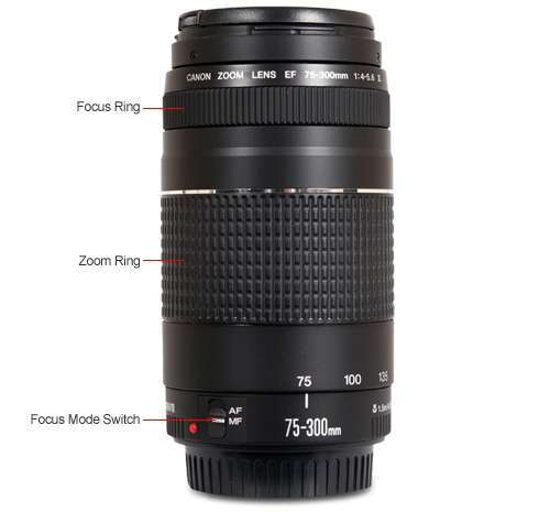 Alternate view 4 for Canon EF 75-300MM F/4-5.6 III Lens