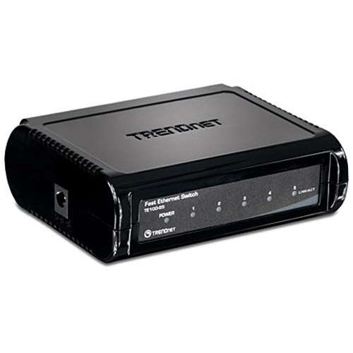 TRENDnet 5-Port 10/100Mbps Switch - TE100-S5 Image2