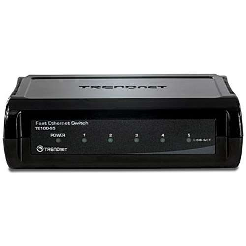 TRENDnet 5-Port 10/100Mbps Switch - TE100-S5 Image3