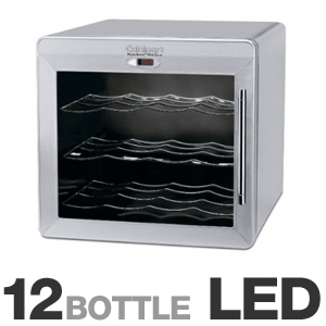 Cuisinart Cwc 1200 Countertop Wine Cellar 12 Bottle Thermoelectric Technology 8 Presets Led Display Refurbished