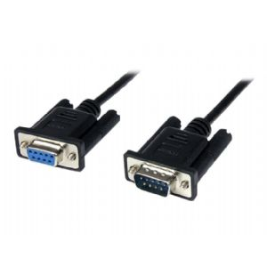 StarTech.com 2m Black DB9 RS232 Serial Null Modem Image1