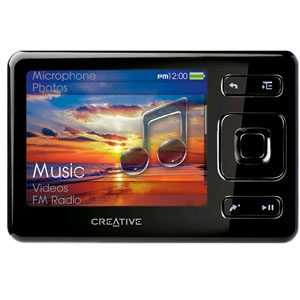 creative zen8gbbk zen mp3 player sd card 8gb at. Black Bedroom Furniture Sets. Home Design Ideas