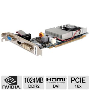 Pny vcggt2201xpb geforce gt 220 video card 1024mb ddr2, pci.