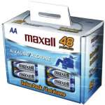 MAXELL LR648B  723443 48 Packs Alkaline Batteries - Bulk retail Packs, 48 Packs, AA Type - (723443 - LR648B)