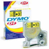 D1 Polyester High-Performance Removable Label Tape, 1/2in x 23ft, Yellow
